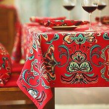 BUUYI Tischdecke Tischtuch Pflegeleicht Moderne minimalistische Druck 140 X 180 cm Hochzeit Hotel Restauran