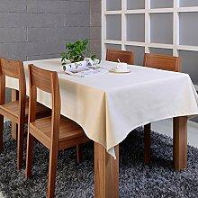 BUUYI Tischdecke Tischtuch Pflegeleicht Moderne minimalistische Farbe 140 X 220 cm Hochzeit Hotel Restauran