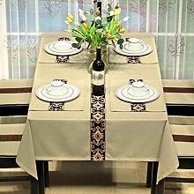 BUUYI Tischdecke Tischtuch Pflegeleicht Moderne minimalistische gelb 90 x 130 cm Hochzeit Hotel Restauran