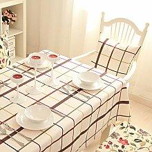BUUYI Tischdecke Tischtuch Pflegeleicht Moderne minimalistische Raster 140 X 180 cm Hochzeit Hotel Restauran