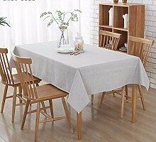 BUUYI Tischdecke Tischtuch Pflegeleicht Moderne minimalistische wasserdicht Ölbeständig grau 130 X 180 cm Hochzeit Hotel Restauran