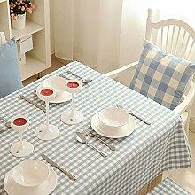 BUUYI Tischdecke Tischtuch Pflegeleicht Moderne minimalistische Raster 140 X 200 cm Hochzeit Hotel Restauran