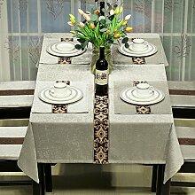 BUUYI Tischdecke Tischtuch Pflegeleicht Moderne minimalistische grau 100 X 130 cm Hochzeit Hotel Restauran