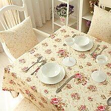 BUUYI Tischdecke Tischtuch Pflegeleicht Moderne minimalistische 140 X 180 cm Hochzeit Hotel Restauran