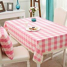 BUUYI Tischdecke Tischtuch Pflegeleicht Moderne minimalistische Raster 140 X 220 cm Hochzeit Hotel Restauran