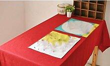 BUUYI Tischdecke Tischtuch Pflegeleicht Moderne minimalistische rot 100 x 140 cm Hochzeit Hotel Restauran