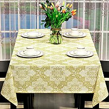 BUUYI Tischdecke Tischtuch Pflegeleicht Moderne minimalistische Stempel Gelb 130 X 230 cm Hochzeit Hotel Restauran