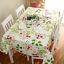 BUUYI Tischdecke Tischtuch Pflegeleicht Pflanzen 110x110cm Hochzeit Hotel Restaurant Modern einfach