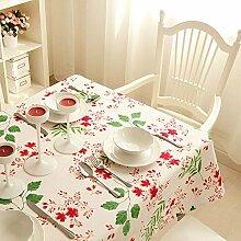 BUUYI Tischdecke Tischtuch Pflegeleicht Reine Baumwolle Stempel 140X200 cm