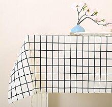 BUUYI Tischdecke Tischtuch Pflegeleicht Weiß 120x120cm
