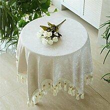BUUYI Tischdecke Tischtuch Pflegeleicht Weiß 220cm