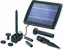BUVTEC Solar Gartenteich Teichpumpen Set 175/2 50-70 cm Förderhöhe Komplettset Gartenteich Pumpe mit Solarpanel und Befestigung