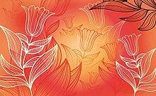 BUVU Papier Design Fototapete - Tulpen (Muster) -