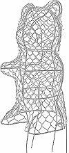 Buxus-Figur Bär verzinkt 38cm Former für Buchsbaum