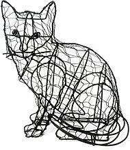 Buxus-Figur Katze Drahtgestell Buchsbaum Former 23 cm