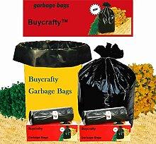 buycrafty stark biologisch abbaubar Müllsäcken (groß) Größe 60cm x 81cm (60Taschen) (Trash Bag/Mülleimer)