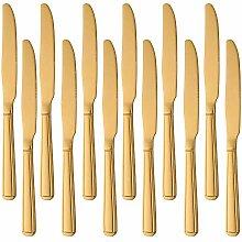 Buyer Star 12 Stück Gold Abendessen Messer,