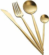 Buyer Star 4 Stück Luxus Gold Besteck Edelstahl