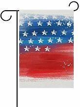 Buyxbn Amerikanische Flagge Blau Rot Dekorative