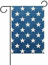 Buyxbn Blue Star Dekorative Outdoor-Flagge