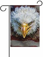 Buyxbn Flagge Amerikanische Glatzadler Dekoration