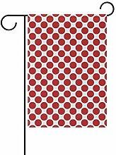 Buyxbn Garten-Flagge, 30,5 x 45,7 cm, Grau,