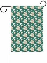 Buyxbn Garten-Flagge, Katze, doppelseitig, 30,5 x