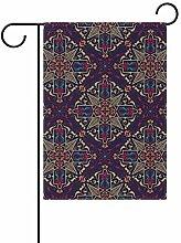Buyxbn Garten-Flagge Mandala, doppelseitig, 30,5 x