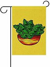 Buyxbn Garten-Flagge, Mandala, grün,