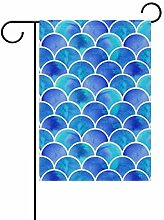 Buyxbn Garten-Flagge, Retro-Design, geometrisch,