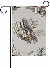 Buyxbn Gartenflagge für Papageien, doppelseitig,