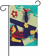 Buyxbn Gartenflagge mit abstraktem