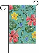 Buyxbn Gartenflagge mit Blumenmotiv, doppelseitig,
