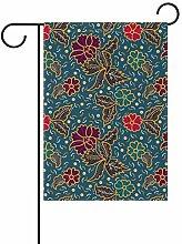 Buyxbn Gartenflagge mit Blumenmuster,