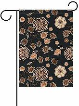 Buyxbn Gartenflagge mit Blumenmuster, Vintage,