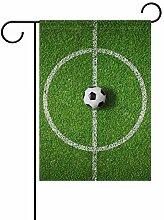 Buyxbn Gartenflagge mit Fußballfeld,
