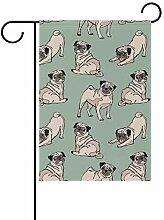 Buyxbn Gartenflagge mit Hund, 30,5 x 45,7 cm,
