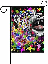 Buyxbn Gartenflagge mit Leopardenmuster,