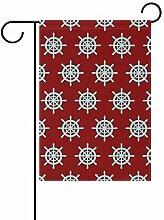 Buyxbn Gartenflagge mit nautischem Rudermotiv,