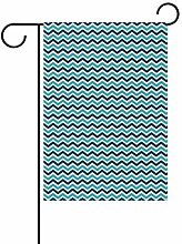 Buyxbn Gartenflagge mit nautischem Streifen,