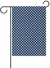 Buyxbn Gartenflagge mit nautischen Punkten,