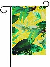 Buyxbn Gartenflagge mit schwarzem Schmetterling,