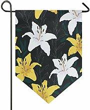 Buyxbn Ostern Lilien Blumen 30,5 x 47 cm Garten