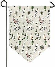 Buyxbn Ostern Muster 30,5 x 47 cm Garten Flagge