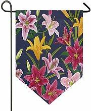 Buyxbn Ostern Muster Lilien Blume 30,5 x 47 cm