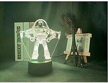 Buzz Lightyear Cartoon Figur 3D Illusion Lampe
