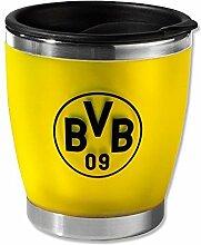 BVB 09 Borussia Dortmund Coffee To Go Becher Kaffeebecher (KLEIN) (gelb, one size)