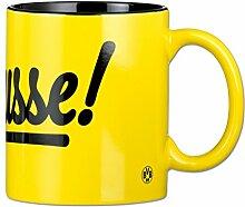 BVB 09 - Borussia Dortmund Fan Tasse Fanartikel - Borusse-Tasse, schwarz gelb, One size, 17318
