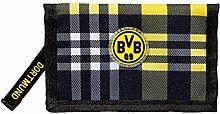 BVB 09 Borussia Dortmund Geldbörse kariert bourse Purse portemonnaie wallet porte-monnaie