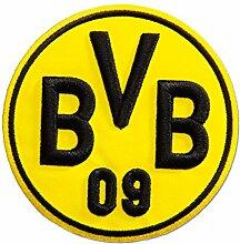 BVB Aufnäher-3D, Polyester, Schwarz / Gelb, 10 x